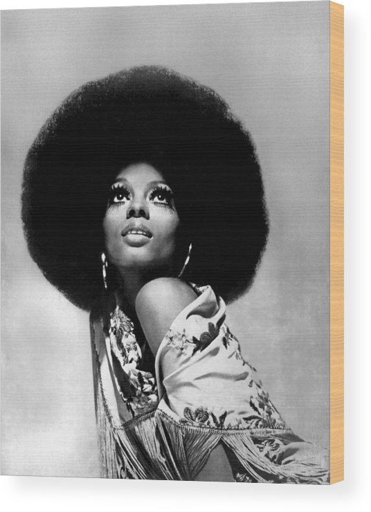 Diana Ross Wood Print featuring the photograph Diana Ross Portrait Session by Harry Langdon