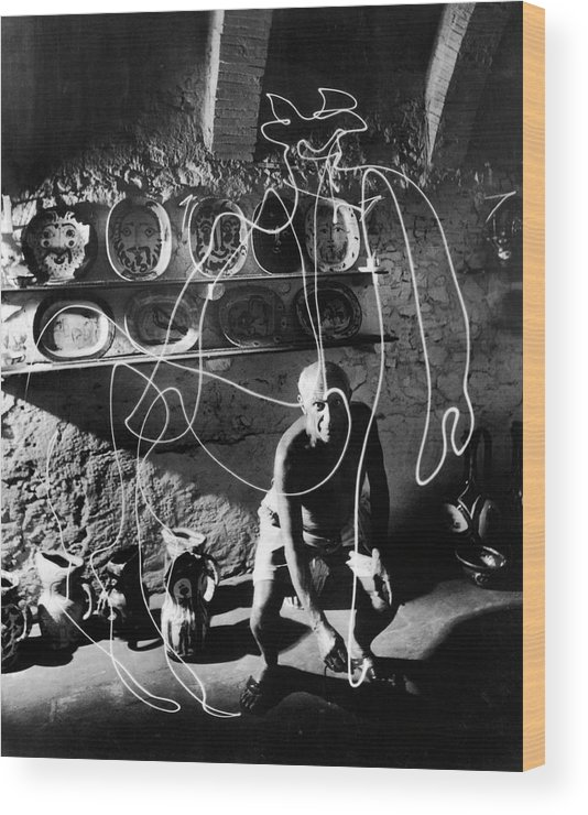 Pablo Picasso Wood Print featuring the photograph Pablo Picassopablo Picasso Misc by Gjon Mili