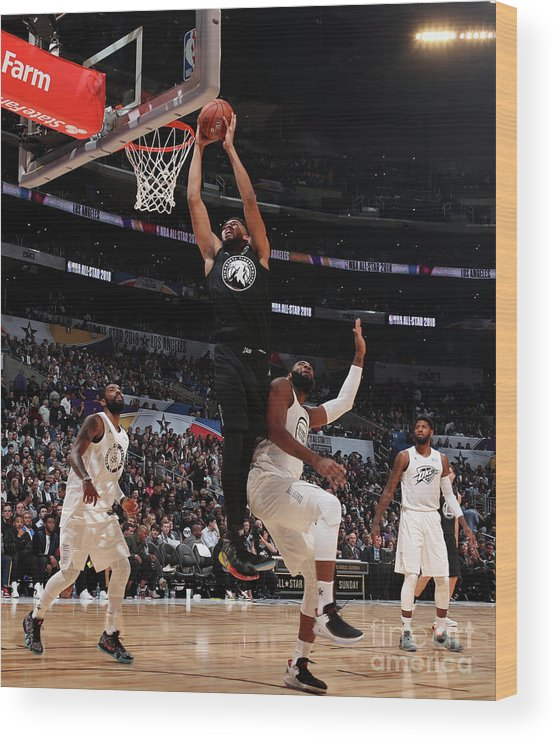 Nba Pro Basketball Wood Print featuring the photograph 2018 Nba All-star Game by Nathaniel S. Butler