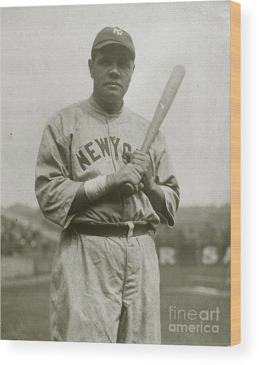 People Wood Print featuring the photograph Babe Ruth Aetherial by Transcendental Graphics