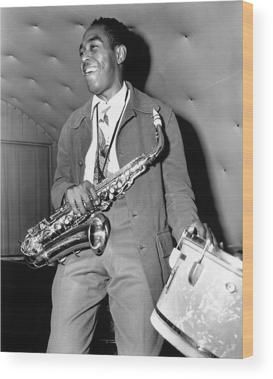 Music Wood Print featuring the photograph Charlie Parker Performing by Michael Ochs Archives
