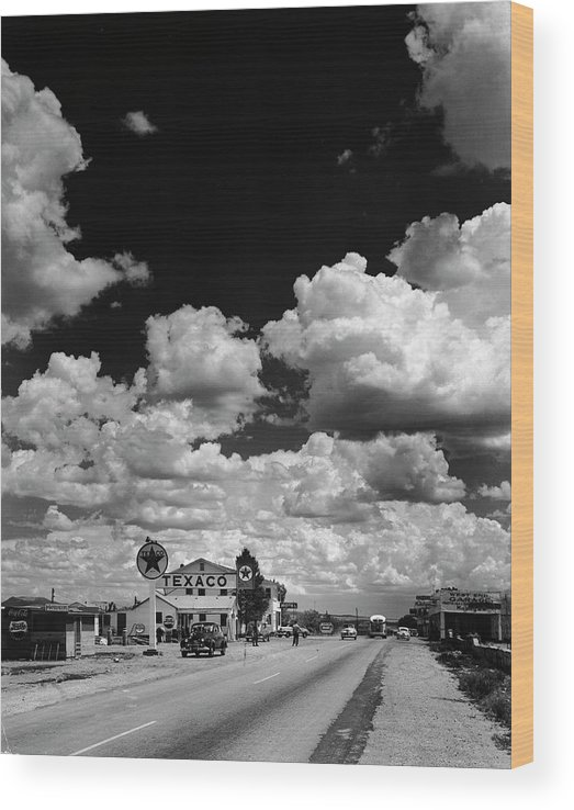 Timeincown Wood Print featuring the photograph Clouds Over Seligman by Andreas Feininger