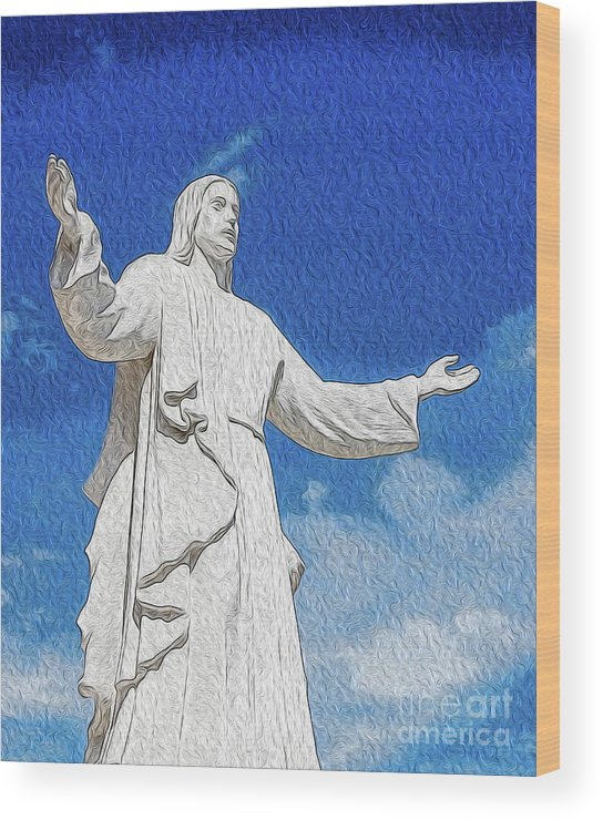 Faith Wood Print featuring the digital art Come Unto Me by Kenneth Montgomery