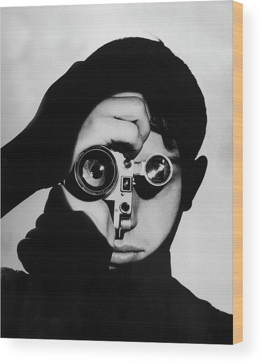 Timeincown Wood Print featuring the photograph Dennis Stock by Andreas Feininger