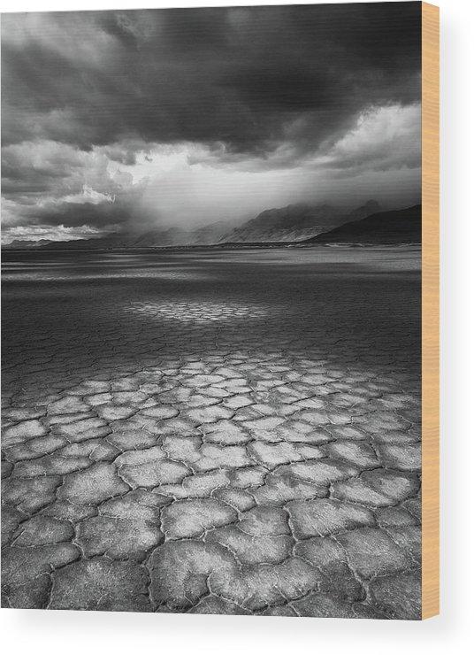 Outdoors Wood Print featuring the photograph Desert Storm by Tim Gallivan