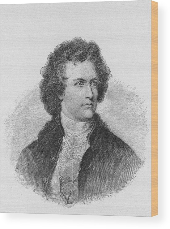 Engraving Wood Print featuring the photograph Engraving Of Johann Wolfgang Von Goethe by Kean Collection