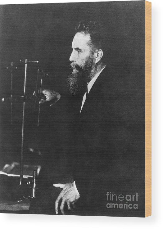 Physicist Wood Print featuring the photograph German Physicist Wilhelm Roentgen by Bettmann