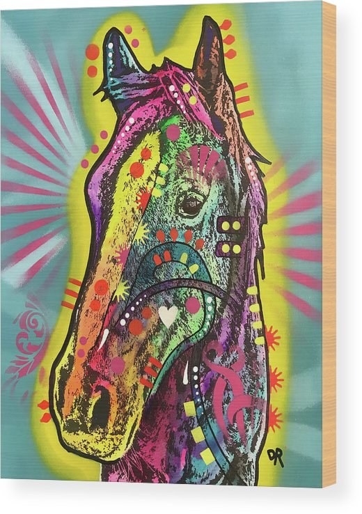 Gift Horse Wood Print featuring the mixed media Gift Horse by Dean Russo