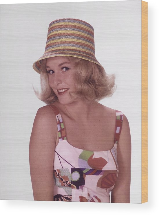 California Wood Print featuring the photograph Girl In Vintage Hat by Tom Kelley Archive