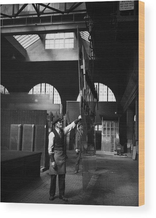 East Wood Print featuring the photograph Glass Factory by Fox Photos