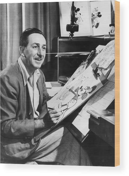Director Wood Print featuring the photograph Hey Mickey by Hulton Archive
