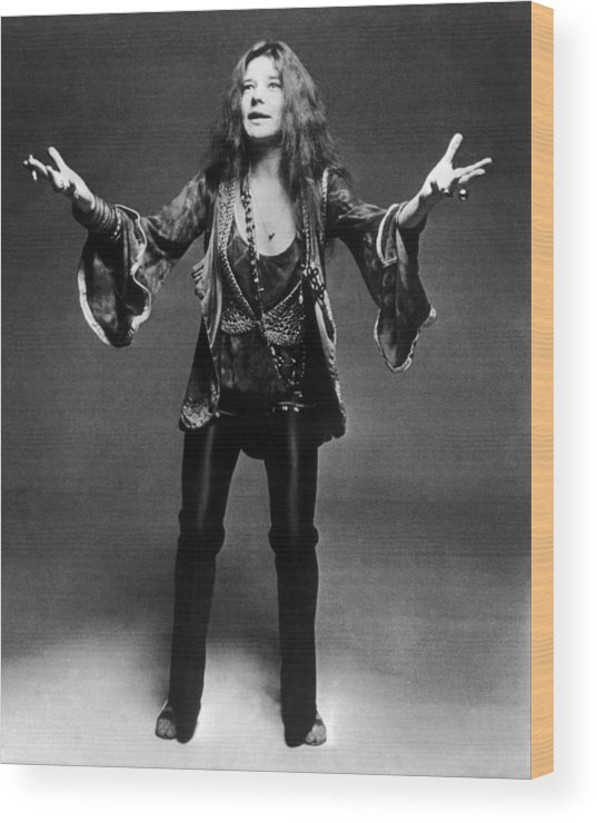 Janis Joplin Wood Print featuring the photograph Janis Joplin 1966-1970 by Keystone-france