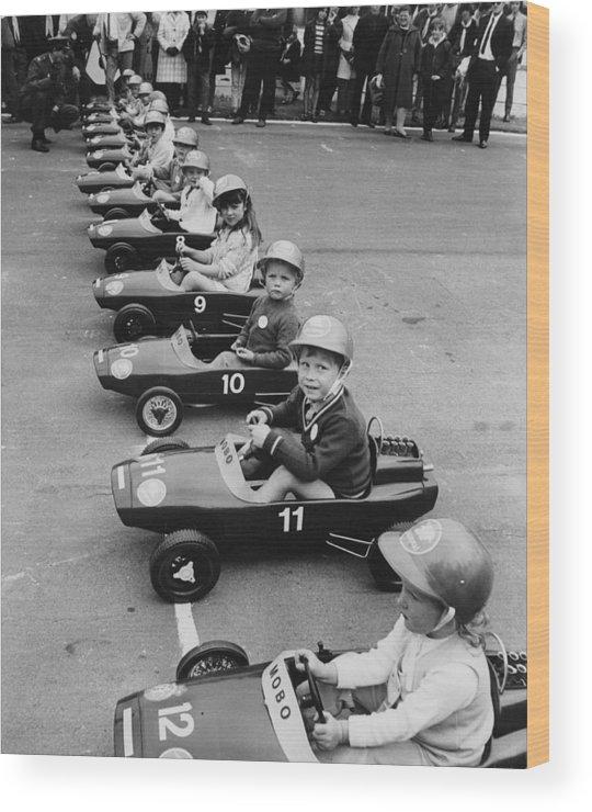 Crash Helmet Wood Print featuring the photograph Junior Grand Prix by Douglas Miller