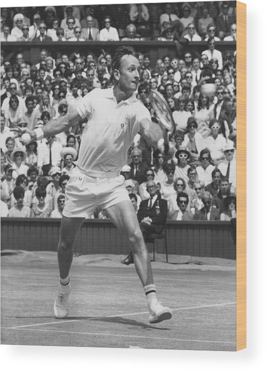 Crowd Wood Print featuring the photograph Laver V Roche by George Freston