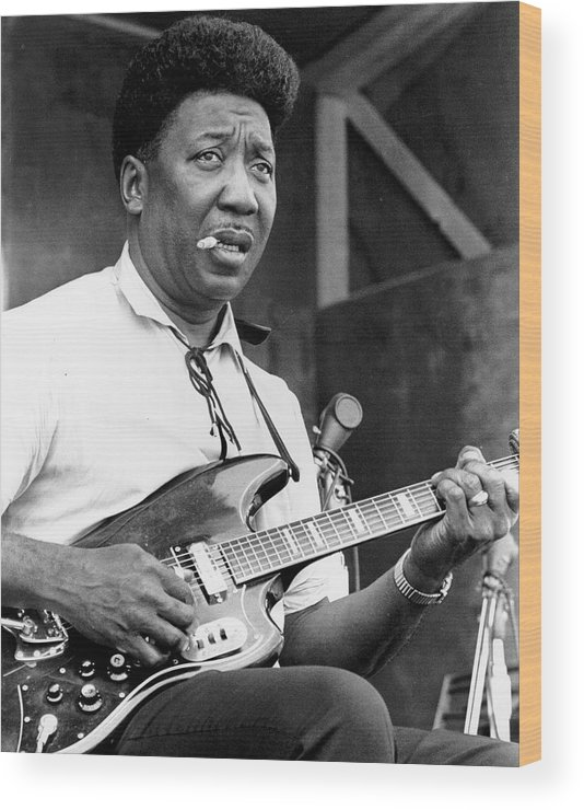 Muddy Waters - Musician Wood Print featuring the photograph Muddy Waters Live At The Ann Arbor by Tom Copi