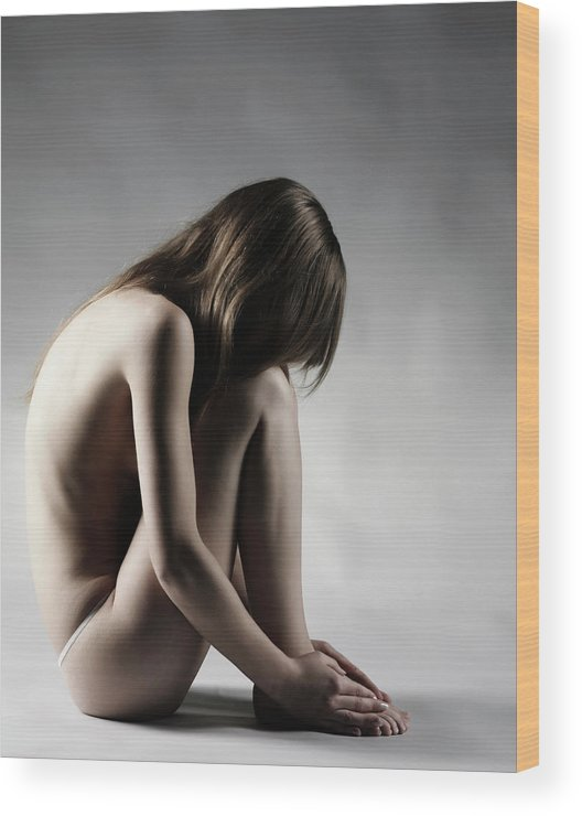 People Wood Print featuring the photograph Naked Woman by Buena Vista Images
