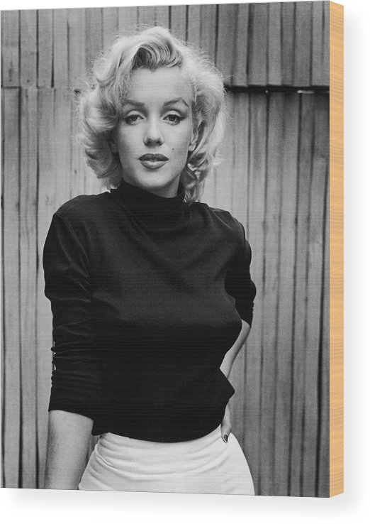 Marilyn Monroe Wood Print featuring the photograph Portrait Of Marilyn Monroe by Alfred Eisenstaedt