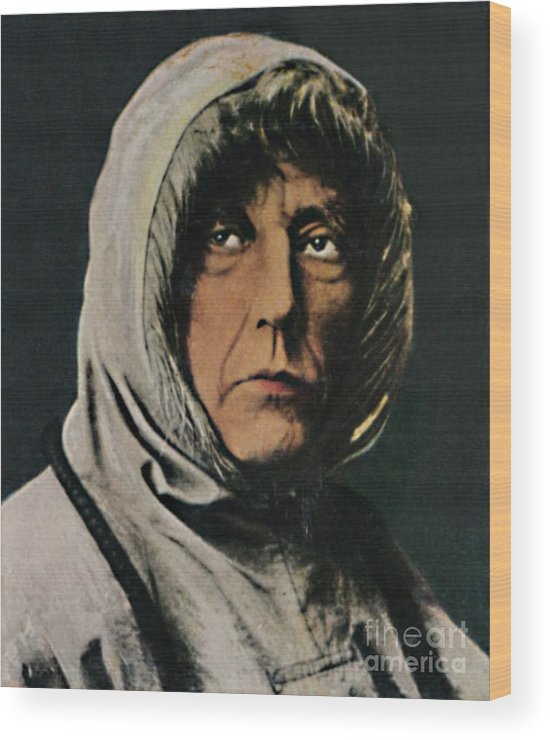 Art Wood Print featuring the drawing Roald Amundsen 1872-1928 by Print Collector