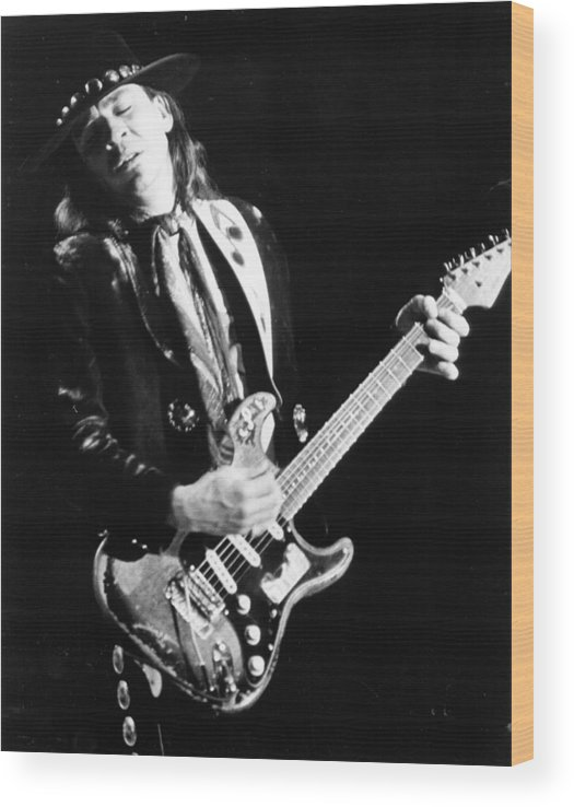 1980-1989 Wood Print featuring the photograph Srv Performing In Davis by Larry Hulst
