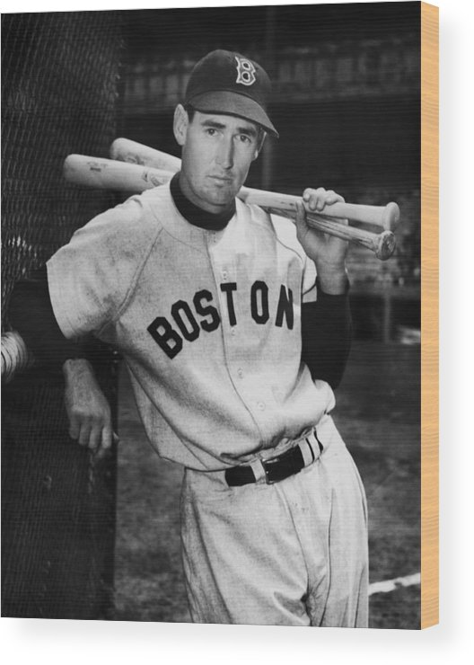 Ted Williams - Baseball Player Wood Print featuring the photograph Ted Williams by Fpg