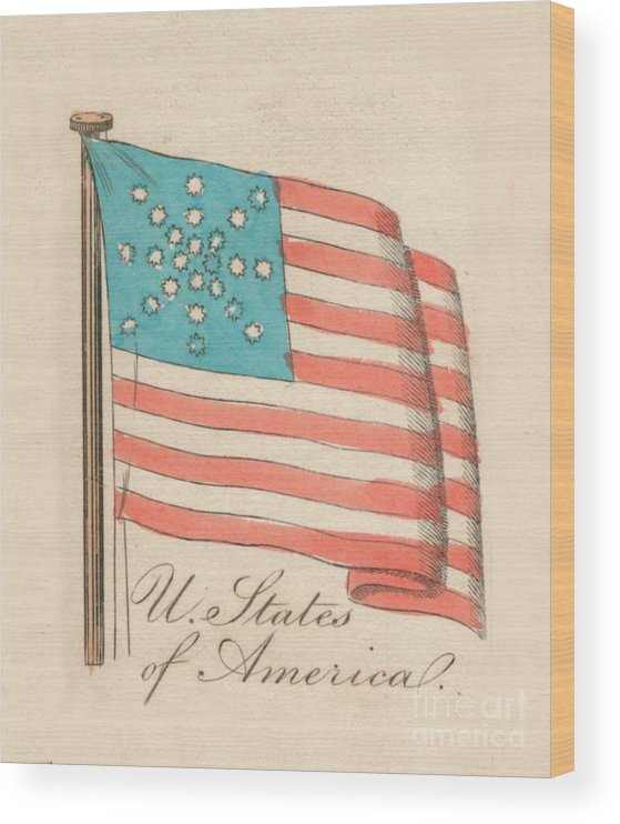 Engraving Wood Print featuring the drawing United States Of America, 1838 by Print Collector