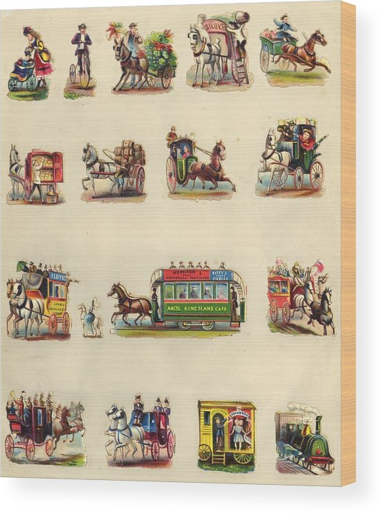Horse Wood Print featuring the photograph Victorian Travel by Hulton Archive