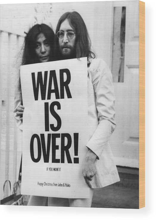 Rock Music Wood Print featuring the photograph War Is Over by Frank Barratt