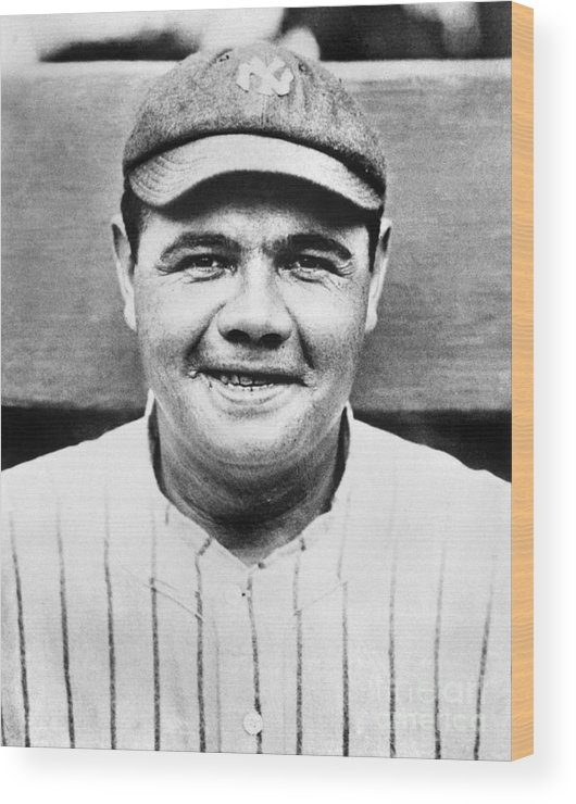 People Wood Print featuring the photograph Babe Ruth by National Baseball Hall Of Fame Library