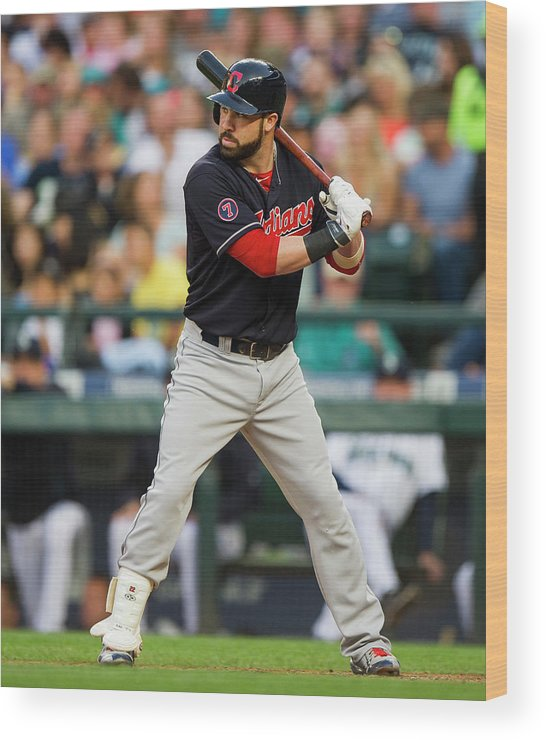 People Wood Print featuring the photograph Jason Kipnis by Rich Lam