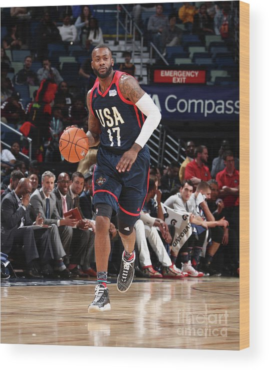 Event Wood Print featuring the photograph Jonathon Simmons by Nathaniel S. Butler