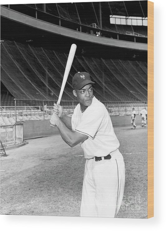 People Wood Print featuring the photograph Monte Irvin by Kidwiler Collection