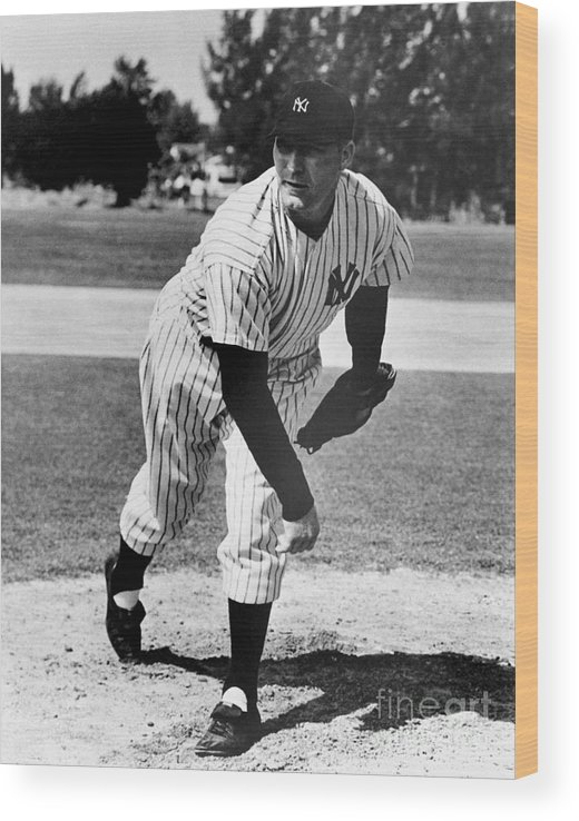American League Baseball Wood Print featuring the photograph Red Ruffing by National Baseball Hall Of Fame Library