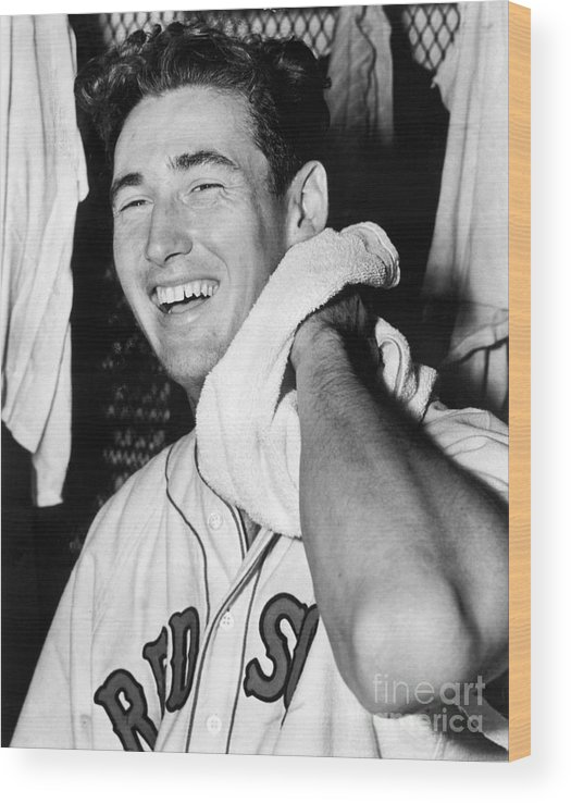 People Wood Print featuring the photograph Ted Williams by National Baseball Hall Of Fame Library