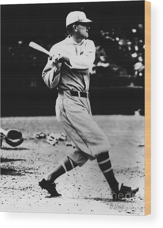 American League Baseball Wood Print featuring the photograph Ty Cobb by National Baseball Hall Of Fame Library