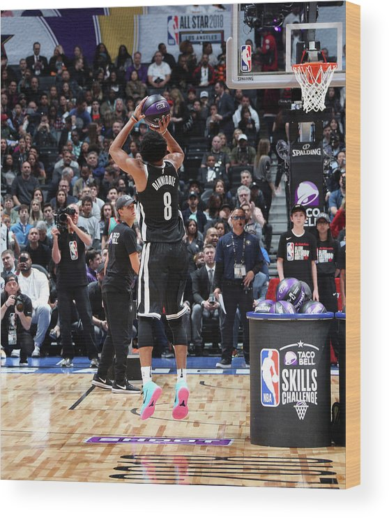 Event Wood Print featuring the photograph Spencer Dinwiddie by Nathaniel S. Butler
