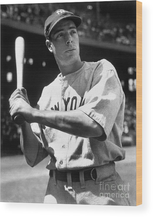 American League Baseball Wood Print featuring the photograph Joe Dimaggio by National Baseball Hall Of Fame Library
