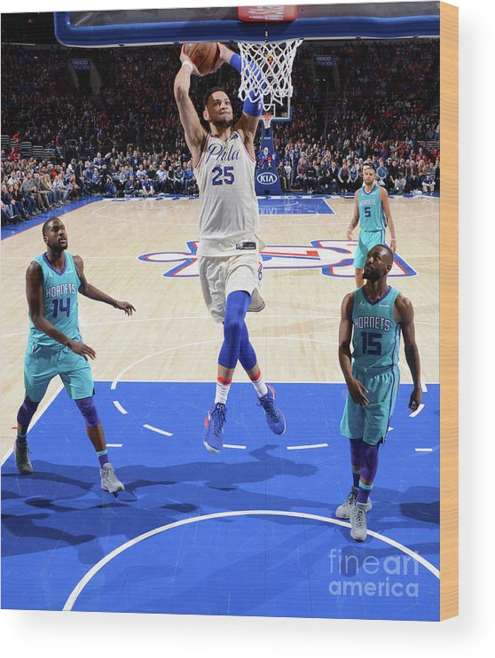 Nba Pro Basketball Wood Print featuring the photograph Ben Simmons by Jesse D. Garrabrant