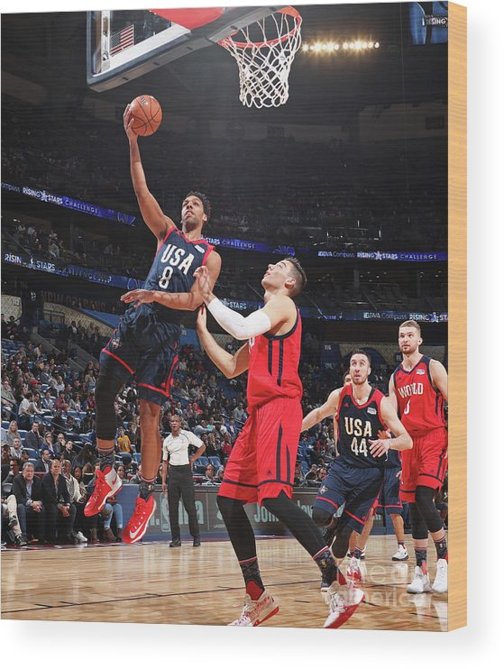 Event Wood Print featuring the photograph Jahlil Okafor by Nathaniel S. Butler