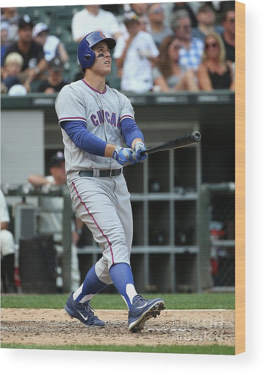 Following Wood Print featuring the photograph Anthony Rizzo by Jonathan Daniel