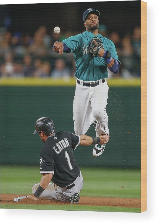 Double Play Wood Print featuring the photograph Adam Eaton by Otto Greule Jr