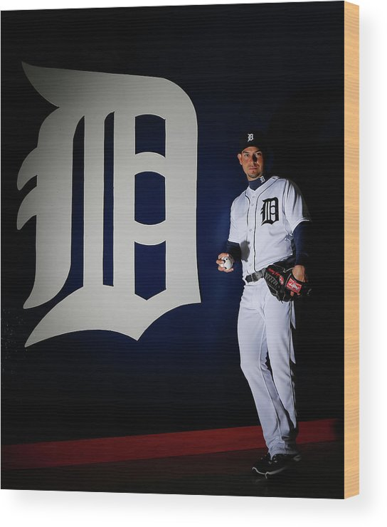 Media Day Wood Print featuring the photograph Anibal Sanchez by Kevin C. Cox