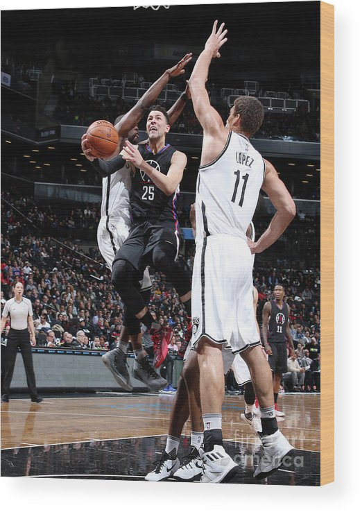 Nba Pro Basketball Wood Print featuring the photograph Austin Rivers by Nathaniel S. Butler