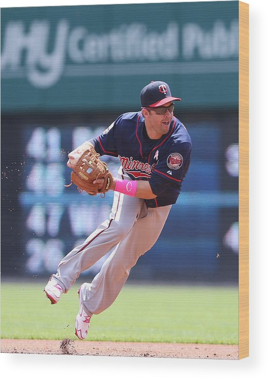 Second Inning Wood Print featuring the photograph Brian Dozier by Leon Halip