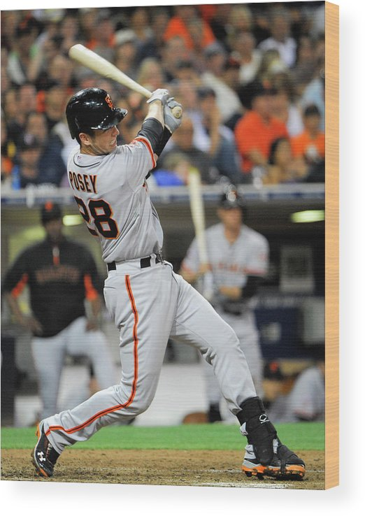 California Wood Print featuring the photograph Buster Posey by Denis Poroy