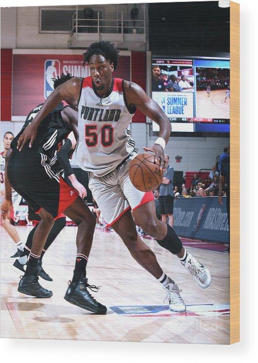 Nba Pro Basketball Wood Print featuring the photograph Caleb Swanigan by Noah Graham