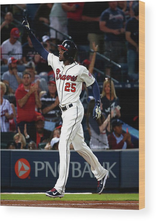 Atlanta Wood Print featuring the photograph Cameron Maybin by Kevin C. Cox