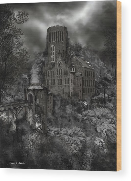Castle Wood Print featuring the painting Casa Los Diavla by James Christopher Hill
