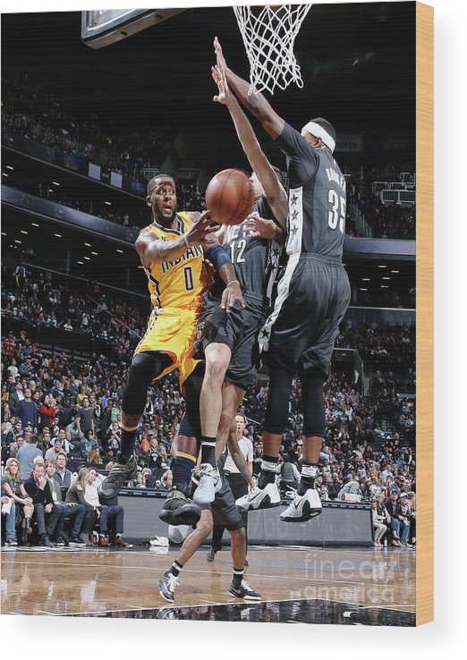 Nba Pro Basketball Wood Print featuring the photograph C.j. Miles by Nathaniel S. Butler