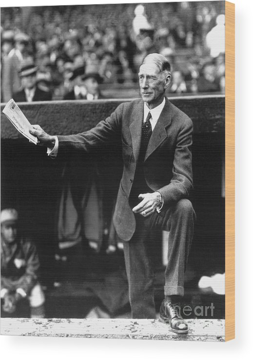 American League Baseball Wood Print featuring the photograph Connie Mack by National Baseball Hall Of Fame Library