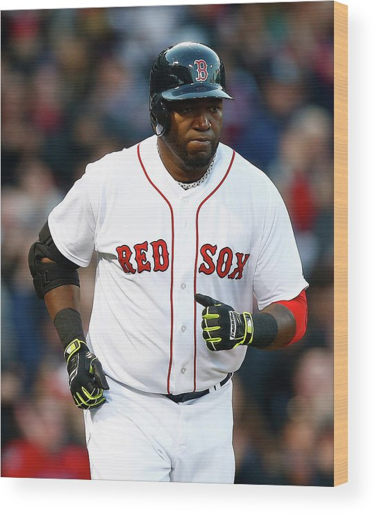 American League Baseball Wood Print featuring the photograph David Ortiz by Jared Wickerham